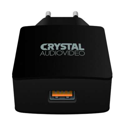 CRYSTAL AUDIO QP-3 QC3.0 port 3.65-6.5V/3A 6.5-9V/2A 9-12V/1.5A Single USB Wall Charger