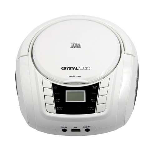 CRYSTAL AUDIO BMBU2W CD/MP3/FM/USB PLAYER WHITE