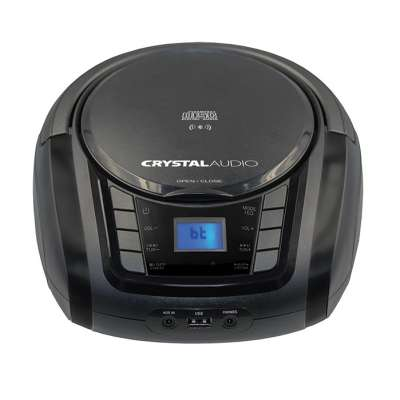 CRYSTAL AUDIO BMBUB3 BT/CD/MP3/FM/USB PLAYER BLACK
