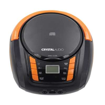 CRYSTAL AUDIO BMBU2KO CD/MP3/FM/USB PLAYER BLACK/ORANGE