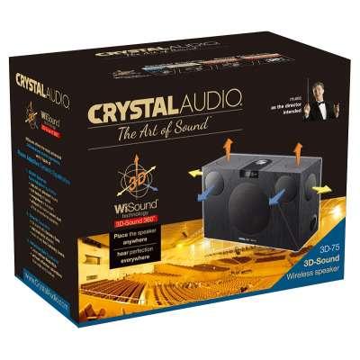 CRYSTAL AUDIO 3D-75 WiSound Speaker BT/HDMI/OPT/AUX Black