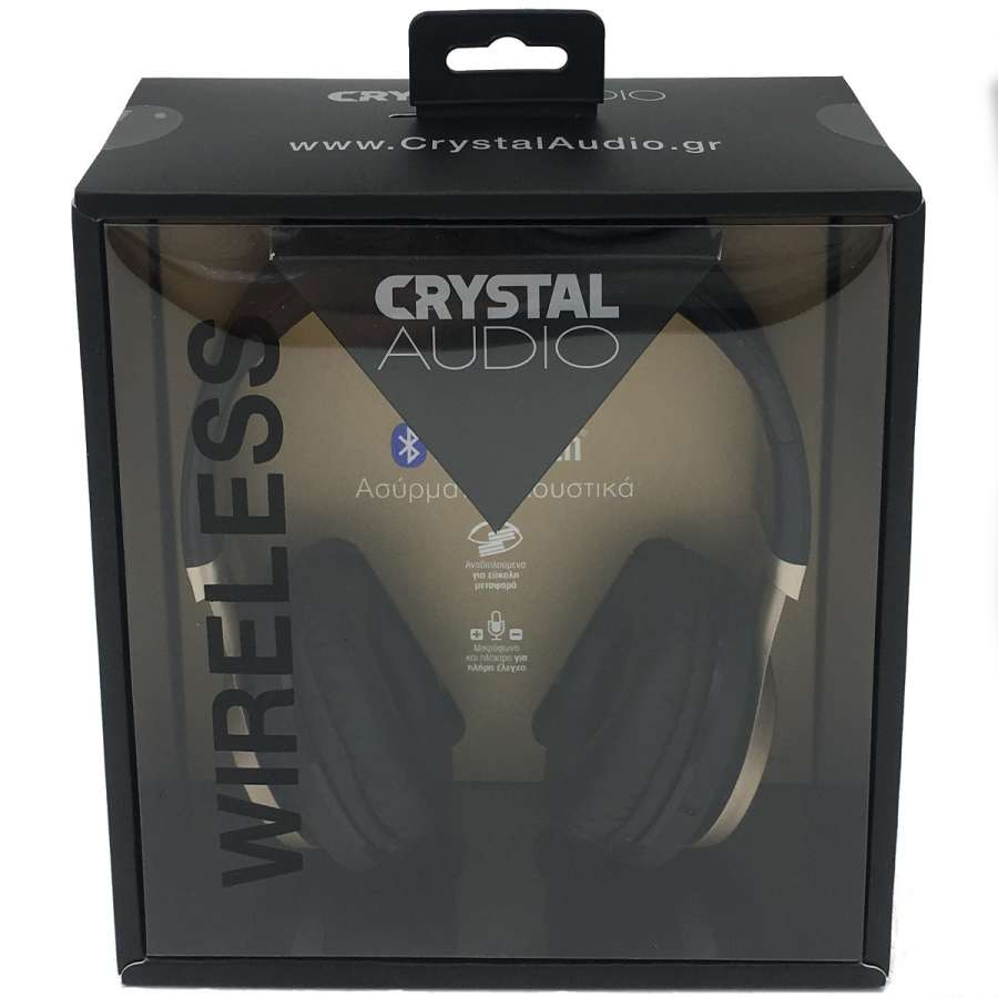 CRYSTAL AUDIO BT-01-KG BLUETOOTH BLACK-GOLD OVER-EAR HEADPHONES