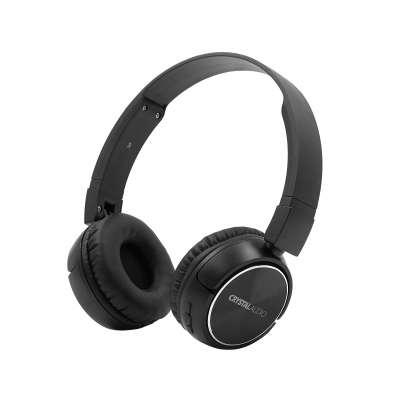 CRYSTAL AUDIO BT4-K BLACK BLUETOOTH ON-EAR FOLDABLE HEADPHONES