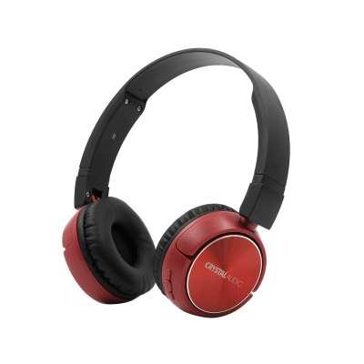 CRYSTAL AUDIO BT4-R RED BLUETOOTH ON-EAR FOLDABLE HEADPHONES