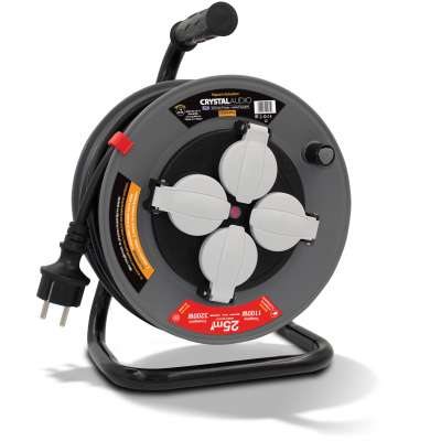 CRYSTAL AUDIO CR25O-IP44 CABLE REEL 25M IP44