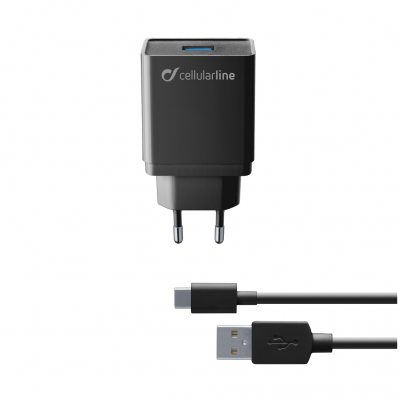 CL 355660 ACHKIT10WTYCK USB CHARGER KIT 10W USB-C BLACK