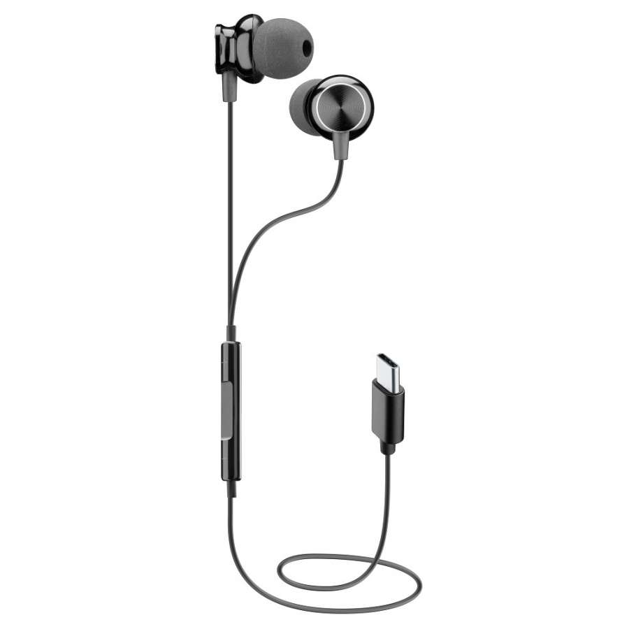 CL 353970 AUSPARROWTYPECK TYPE - C EARPHONES IN-EAR BLACK