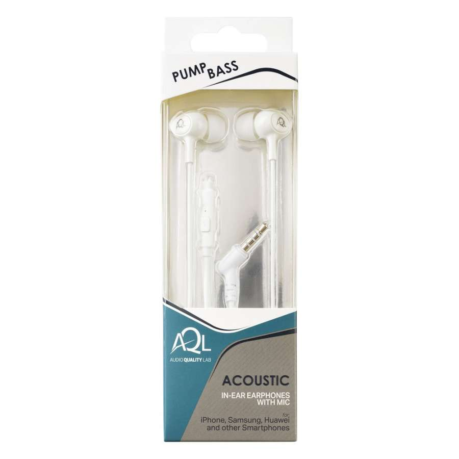 CL 292019 ACOUSTICW ACOUSTIC WHITE IN-EAR EARPHONES WITH MIC