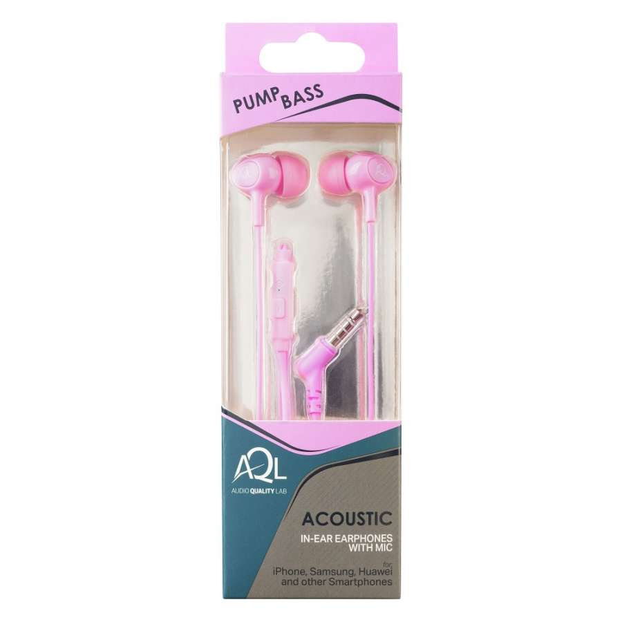 CL 294136 ACOUSTICP ACOUSTIC PINK IN-EAR EARPHONES WITH MIC