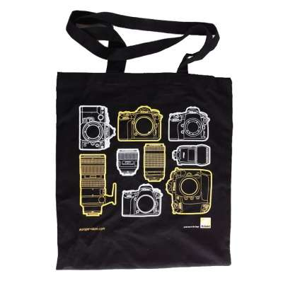 NIKON Cotton tote bag Black (100 years)