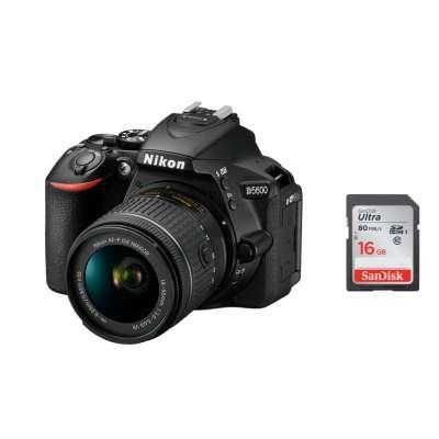 NIKON D5600 + AF-P 18-55 VR + SanDisk SD Ultra 16GB 80MB/s Class 10