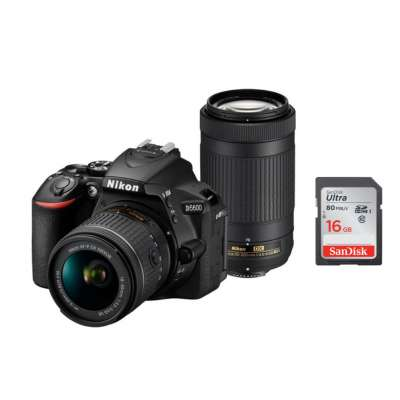 NIKON D5600 + AF-P 18-55 VR + AF-P 70-300 VR + SanDisk SD Ultra 16GB 80MB/s Class 10