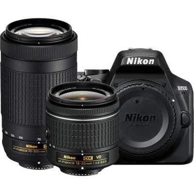 NIKON D3500 DOUBLE SPECIAL KIT AF-P 18-55VR & AF-P70-300 VR + SanDisk SDSDUN4-032G-GN6IN Ultra 32GB 120MB/s
