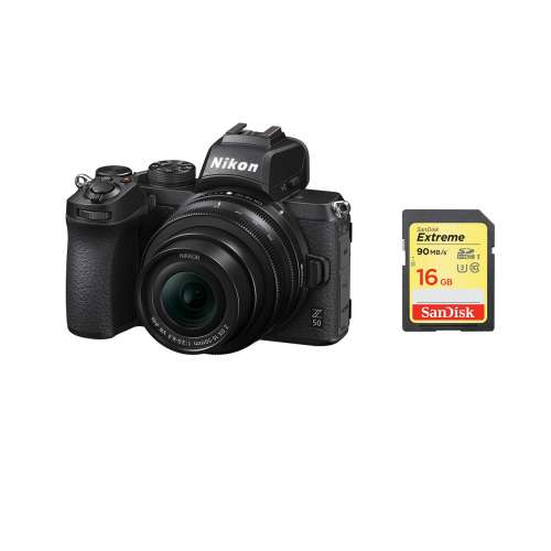 NIKON Z 50 KIT ME DX 16-50mm f/3.5-6.3 VR + SanDisk SD Extreme 16GB