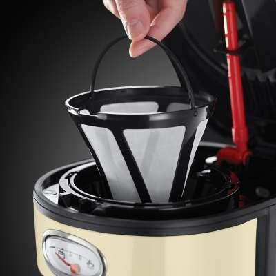 RH 21702-56 Retro Vintage Cream Coffee Maker