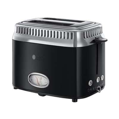 RH 21681-56 Retro Classic Noir Toaster