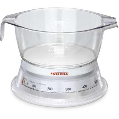 SOEHNLE 65418 KSC VARIO WHITE/GLASS-CLEAR