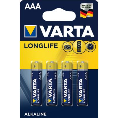 VARTA 4103 συσκ. 4 AΛΚΑΛΙΚΗ LONGLIFE AAA