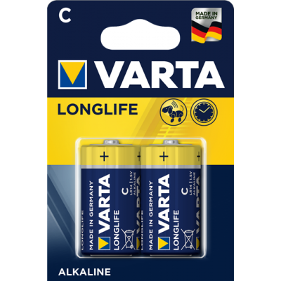 VARTA 4114 συσκ.2  AΛΚΑΛΙΚΗ LONGLIFE C