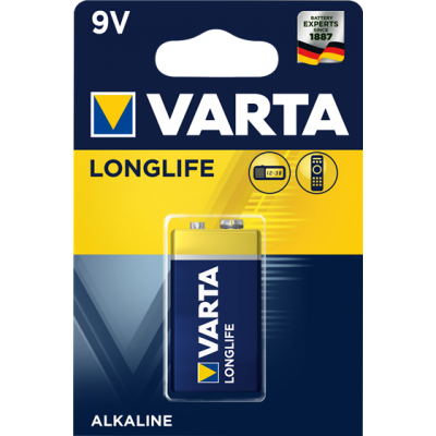 VARTA 4122 συσκ.1 AΛΚΑΛΙΚΗ LONGLIFE 9V