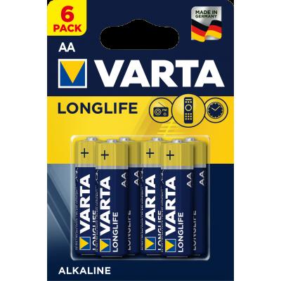 VARTA 4106 συσκ.6 AΛΚΑΛΙΚΗ LONGLIFE AA