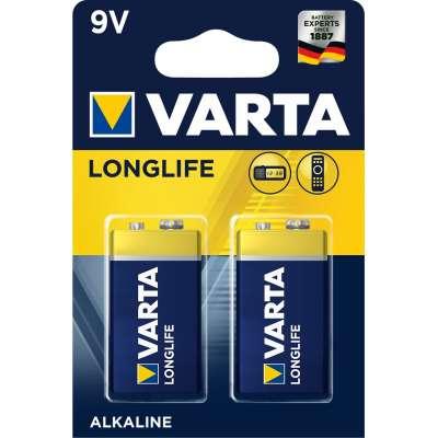 VARTA 4122 9V συσκ.2 101412 ALKALINE LONGLIFE