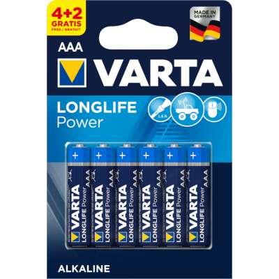 VARTA 4903 συσκ.6 AΛΚΑΛΙΚΗ LONGLIFE POWER AAA (4+2)