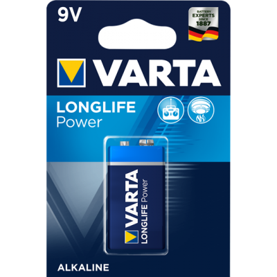 VARTA 4922 AΛΚΑΛΙΚΗ LONGLIFE POWER 9V