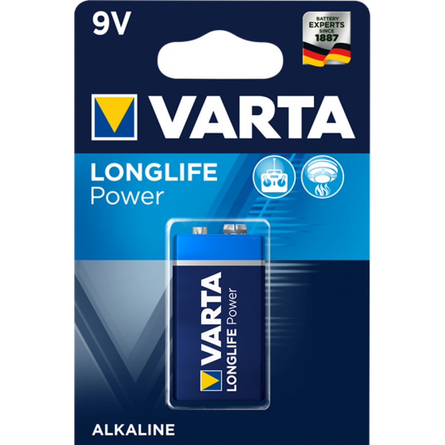 VARTA 4922 AΛΚΑΛΙΚΗ LONGLIFE POWER 9V