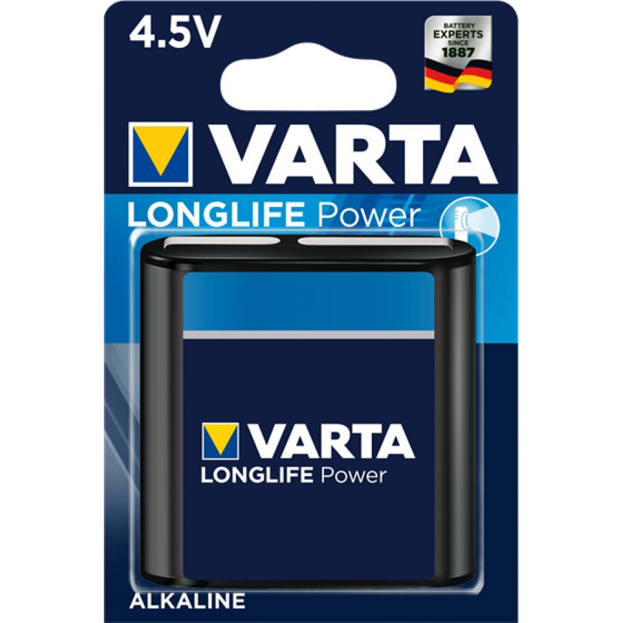 VARTA 4912 AΛΚΑΛΙΚΗ LONGLIFE POWER ΠΛΑΚΕ 4,5V