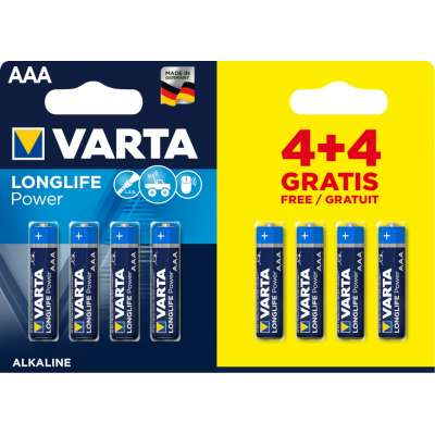 VARTA 4903 συσκ.8 AΛΚΑΛΙΚΗ LONGLIFE POWER AAA (4+4)
