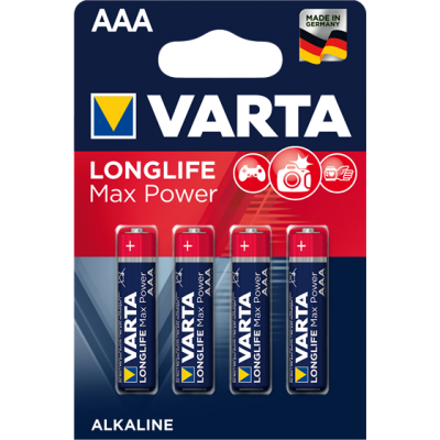 VARTA 4703 συσκ.4 AΛΚΑΛΙΚΗ LONGLIFE MAX POWER AAA