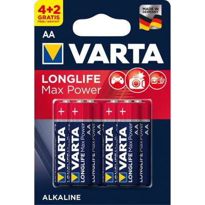 VARTA 4706 συσκ.6 AΛΚΑΛΙΚΗ LONGLIFE MAX POWER AA (4+2)