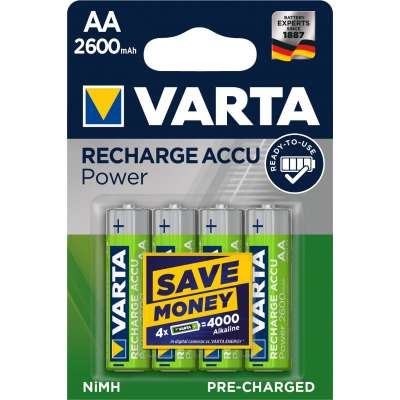 VARTA 05716 2600mAh συσκ.4 101404 Recharge Accu Power 4AA